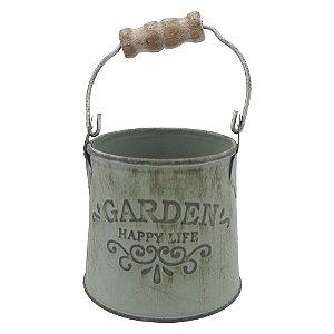 Vaso Balde de Metal Garden