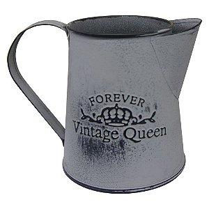Vaso de Metal estilo Jarro Vintage Queen