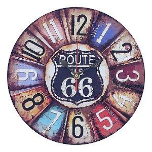 Relógio de Parede Vintage Route 66