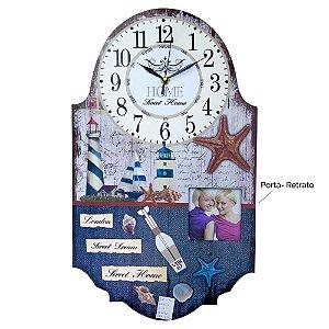 Relógio com Porta Retrato Náutico