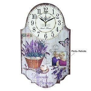 Relógio com Porta Retrato Lavanda