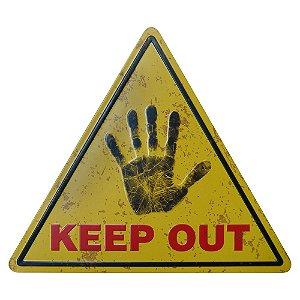 Placa de Metal Decorativa Keep Out