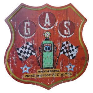 Placa de Metal Decorativa G.A.S