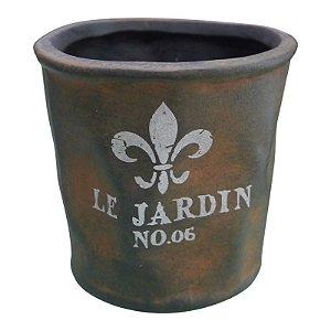 Vaso de Metal Rústico Le Jardin Médio