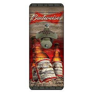 Abridor de Garrafa de Parede Quadrado Budweiser