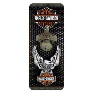Abridor de Garrafa de Parede Quadrado Harley-Davidson Águia