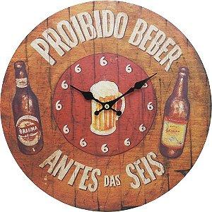 Relógio Proibido Beber Antes das Seis