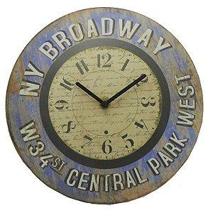 Relógio de Parede Rústico Broadway