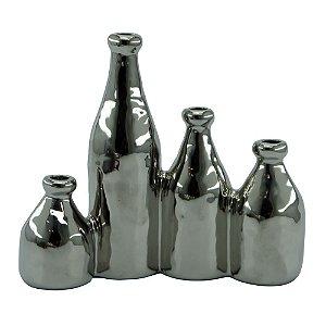 Vaso de Cerâmica Cromado