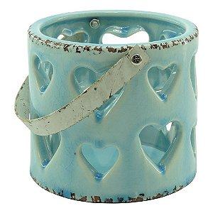 Lanterna Azul Corações Vazados