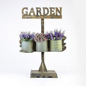 Suporte Rústico Garden para Vasos