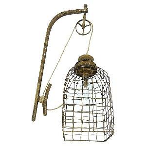 Luminária Vintage Gaiola de LED