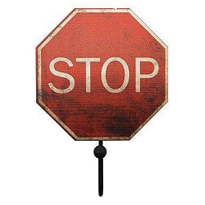 Cabideiro de Parede Vermelho Stop