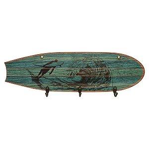 Cabideiro de Parede Prancha de Surf Verde