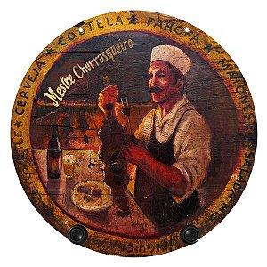 Cabideiro de Parede Vintage Mestre Churrasqueiro