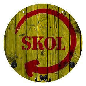Placa Skol com Cabideiro