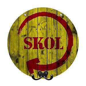 Cabideiro de Parede Decorativo Skol