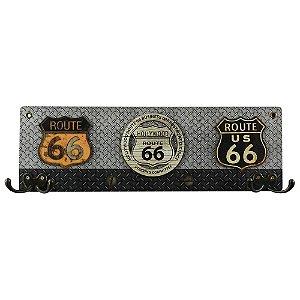 Cabideiro de Parede de Madeira Hollywood Route 66