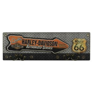 Cabideiro de Parede de Madeira Harley Davidson - Route 66