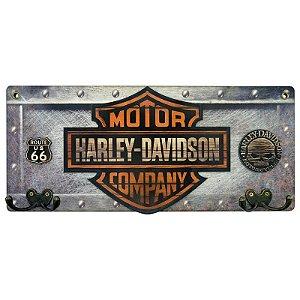 Cabideiro de Parede Motor Company Harley de Madeira