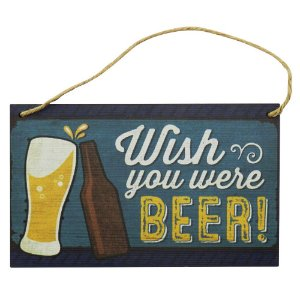 Quadro decorativo Wish You Were Beer