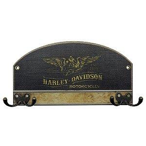 Cabideiro de Parede Harley Davidson Preto