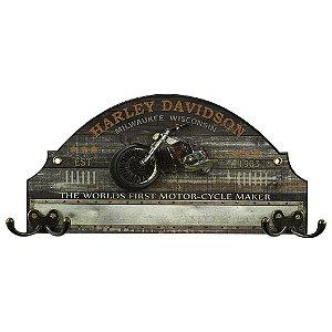 Cabideiro de Parede Vintage Harley Davidson