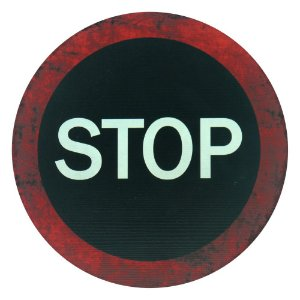 Placa Decorativa Stop