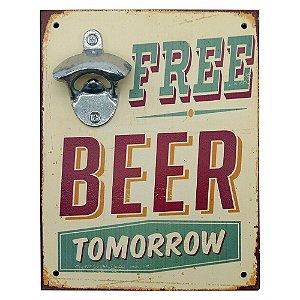 Abridor de Garrafa Parede Free Beer