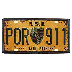 Placa de Metal Porsche
