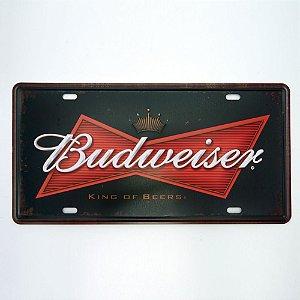 Placa de Metal Cerveja Budweiser