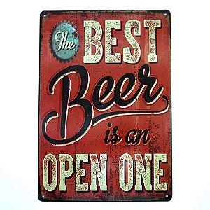 Placa de Metal Best Beer