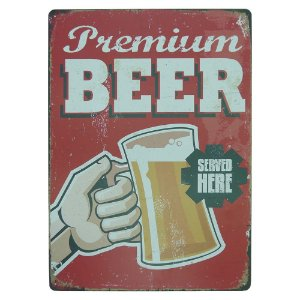 Placa de Metal Premium Beer