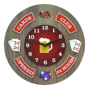 Relógio de Parede Card Club