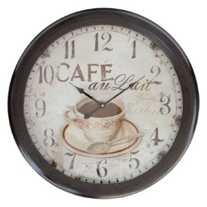 Relógio de Parede Vintage Grande Café