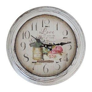 Relógio de Parede Rústico Garden