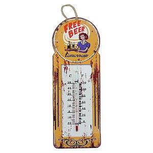 Termômetro Vintage Free Beer