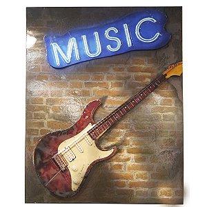 Decorativo de Parede Guitarra - Music
