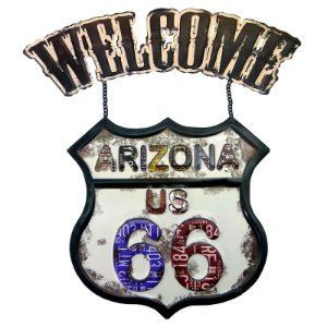 Placa Welcome Arizona US 66