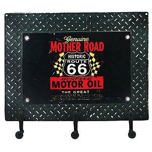 Cabideiro de Parede Route 66 Preta