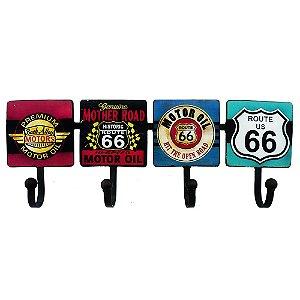 Cabideiro de Parede Retrô Route 66