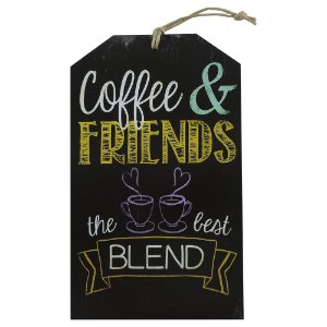 Decorativo Tag Parede Coffee Friends