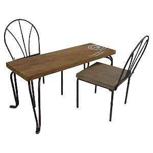 Enfeite Miniatura Mini Mesa com Cadeira