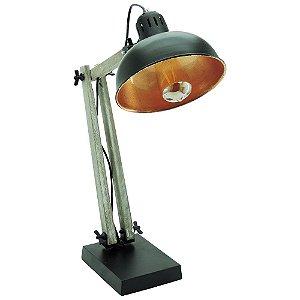Luminária de Mesa Articulada Preta