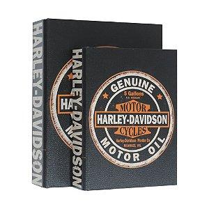 Jogo com 2 Porta Objetos estilo Livro Harley