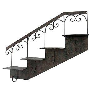 Cabideiro de Parede e Porta Vasos Escada