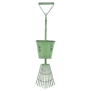 Vaso de Metal estilo Rastelo Verde