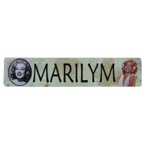 Placa de Metal Decorativa Marilyn