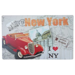 Placa de Metal Decorativa New York