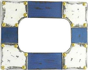 Porta Retrato Azul Rústico